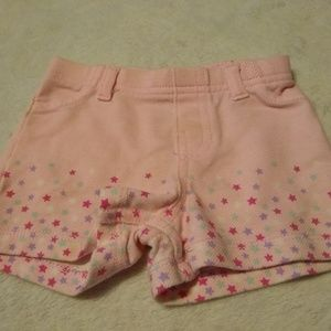 Pink shorts with stars sz 0-3 most